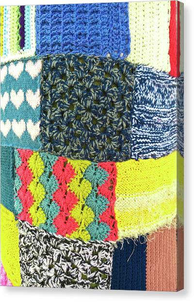 Red Knot Canvas Print - Patchwork Wool by Tom Gowanlock