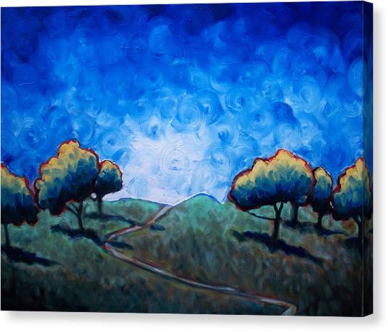 Path Through Las Trampas Canvas Print by Sheila Tajima
