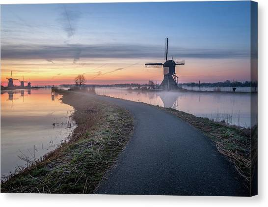 Path Through Windmill City Canvas Print