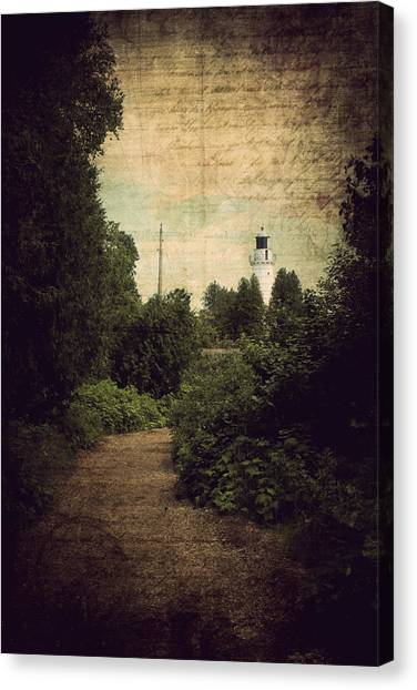 Path To Cana Island Lighthouse Canvas Print