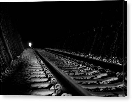Path To Darkness Canvas Print by Daniel Lih