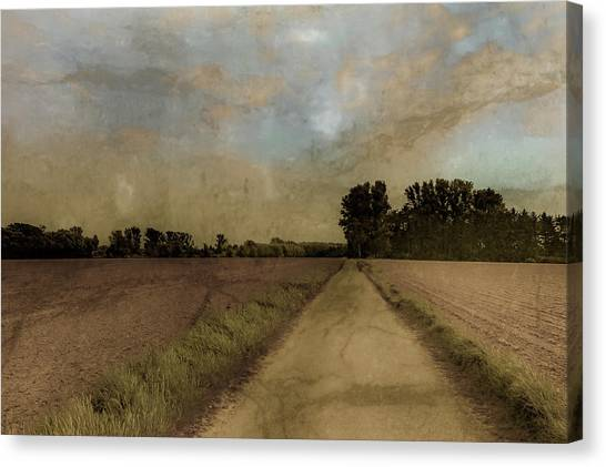 Canvas Print featuring the photograph Juchen, Germany - Path To Glehn by Mark Forte
