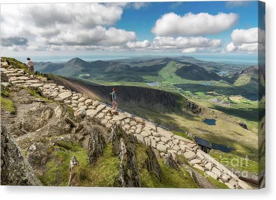 Pinion Canvas Print - Path To Snowdon by Adrian Evans
