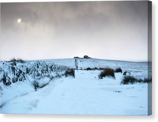 Path To South Hessary Tor II Canvas Print