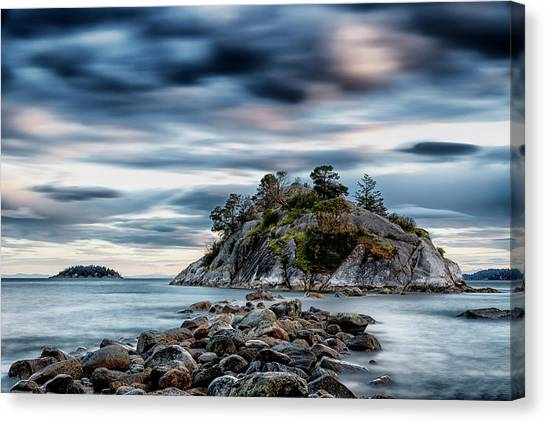 Vancouver Island Canvas Print - Path To Whyte Island by Stephen Stookey
