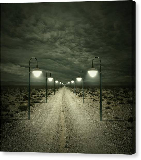 Streets Canvas Print - Path by Zoltan Toth
