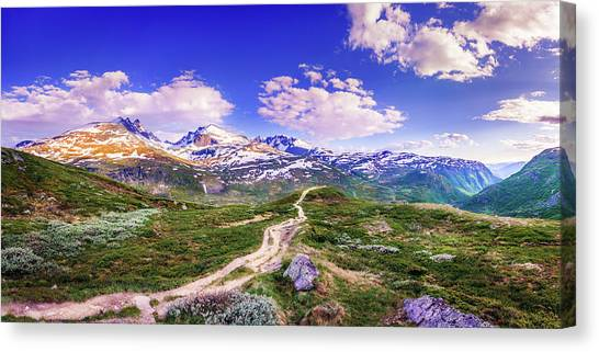 Pathway To A Valley Canvas Print