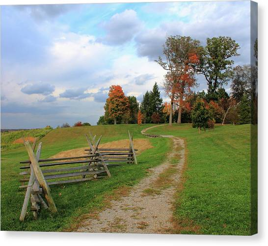 Pathway To Fall Canvas Print