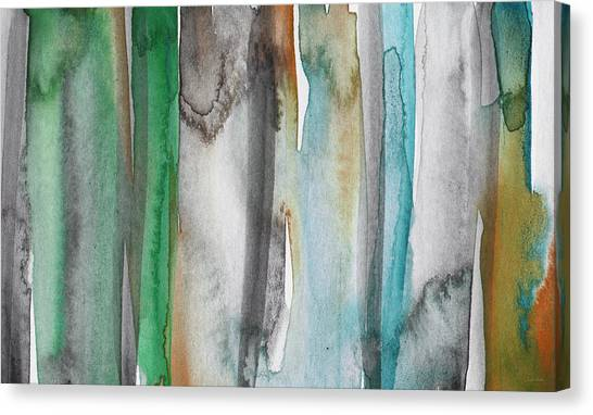 Lines Canvas Print - Patina- Abstract Art By Linda Woods by Linda Woods