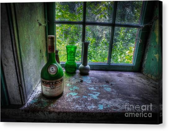 Patina In Green Canvas Print