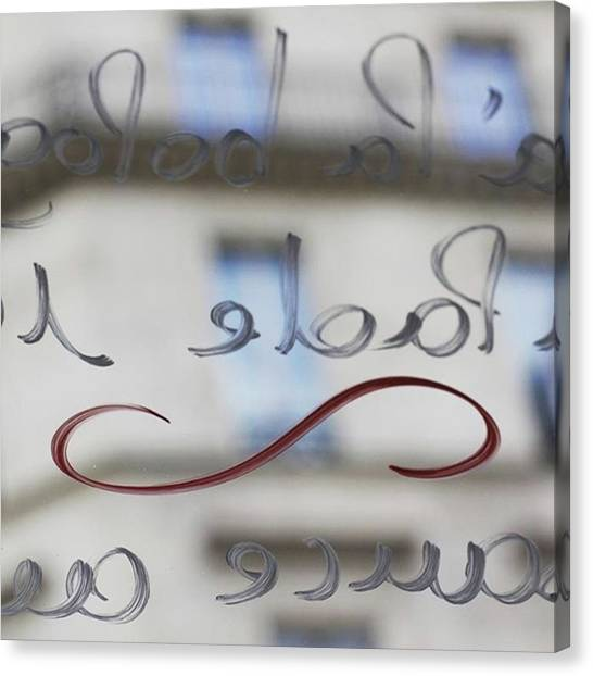 French Canvas Print - Patisserie Window. #paris by Heidi Hermes