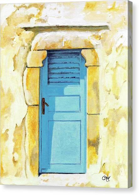 Patmos Door Canvas Print
