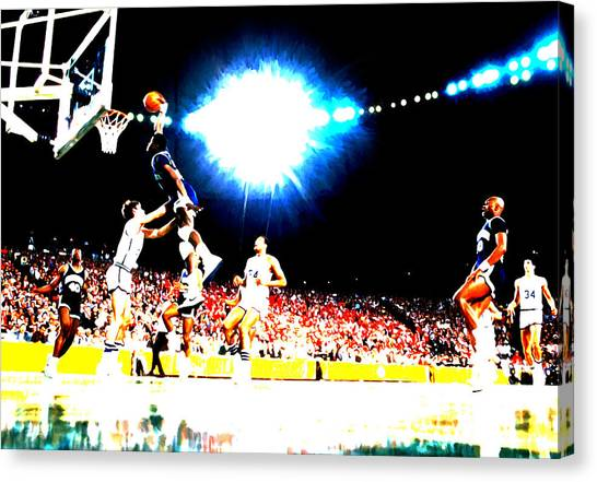 Charlotte Bobcats Canvas Print - Patrick Ewing by Brian Reaves