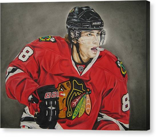 Hockey Players Canvas Print - Patrick Kane by Brian Schuster