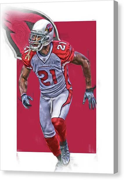Arizona Cardinals Canvas Print - Patrick Peterson Arizona Cardinals Oil Art by Joe Hamilton