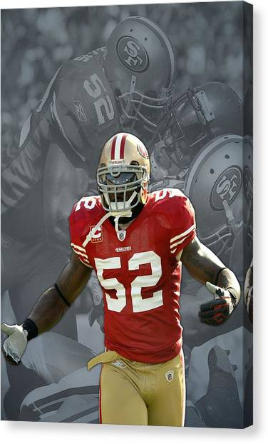 San Francisco 49ers Canvas Print - Patrick Willis San Francisco 49ers by Joe Hamilton
