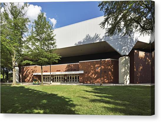 Atlantic 10 Canvas Print - Patriot Center - George Mason University - Fairfax Virginia by Brendan Reals