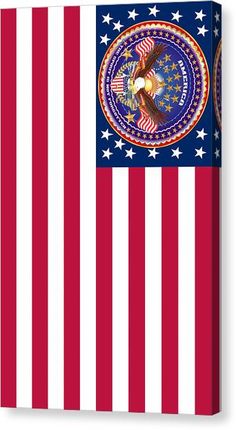 Ted Cruz Canvas Print - Patriotic America Print And Case Only by Bill Campitelle