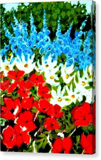 Patriotic Garden Canvas Print by Diane Ursin