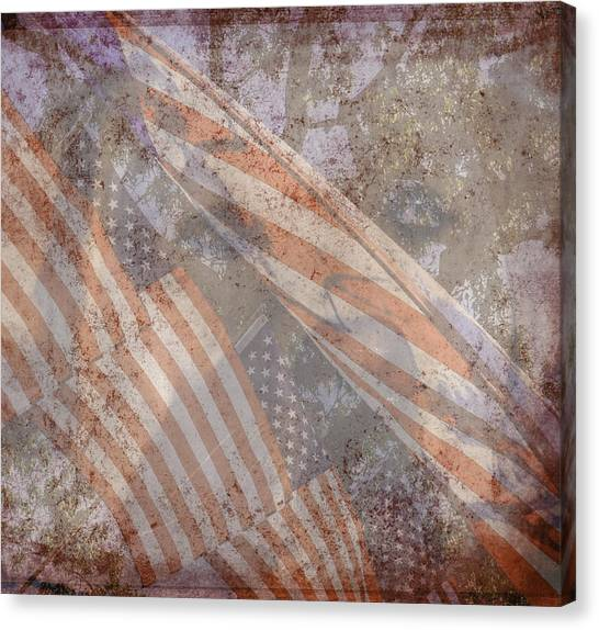 Patriotic Lab Canvas Print
