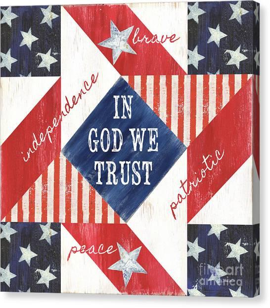 Triangle Canvas Print - Patriotic Quilt 2 by Debbie DeWitt