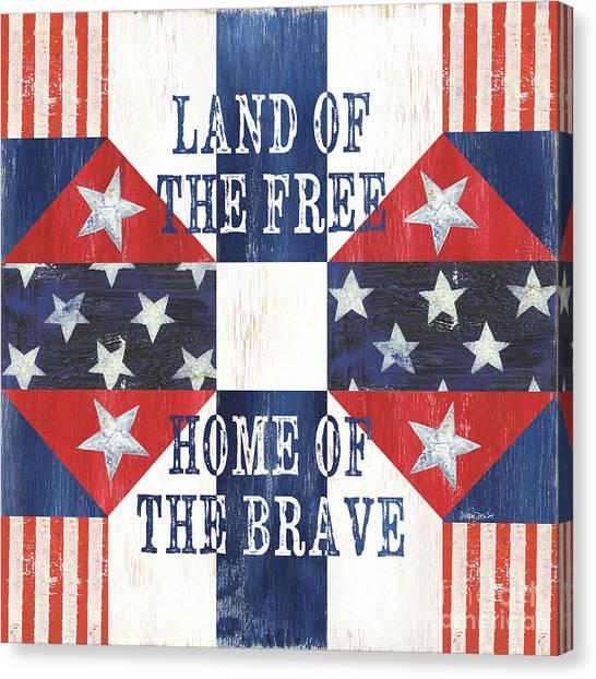 Triangle Canvas Print - Patriotic Quilt 4 by Debbie DeWitt