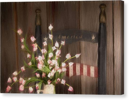 Colleges And Universities Canvas Print - Patriotic Seating by Tom Mc Nemar