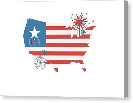 Patriotic Canvas Print - Patriotic Usa by Chastity Hoff