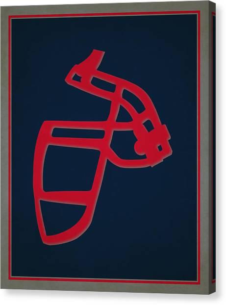 New England Patriots Canvas Print - Patriots Face Mask by Joe Hamilton