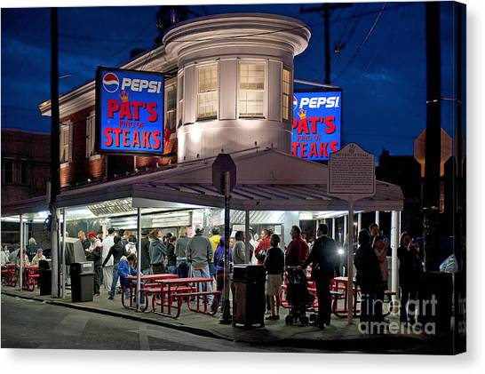 Philadelphia Phillies Canvas Print - Pat's Steaks by John Greim