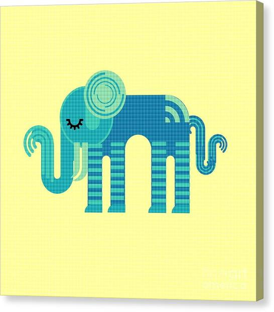 Pattern Elephant Canvas Print