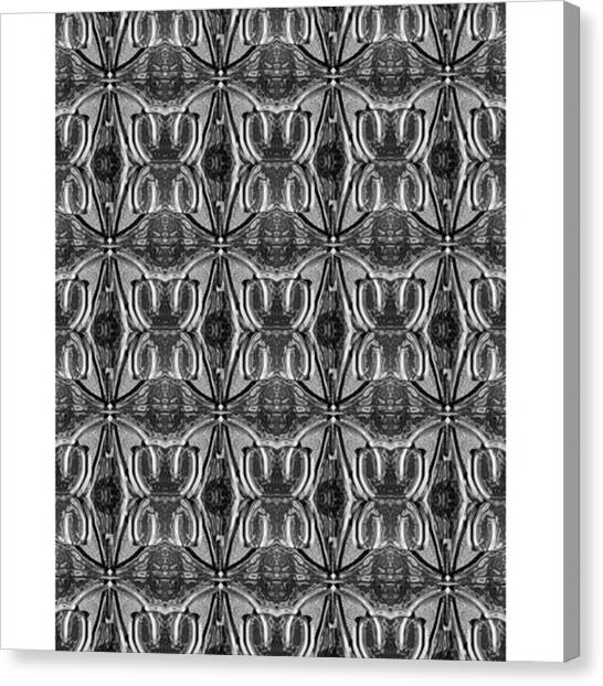 Bacon Canvas Print - Pattern For -cerebellum - by Larry Bacon