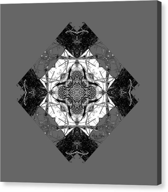 Canvas Print featuring the digital art Pattern In Black White by Deleas Kilgore