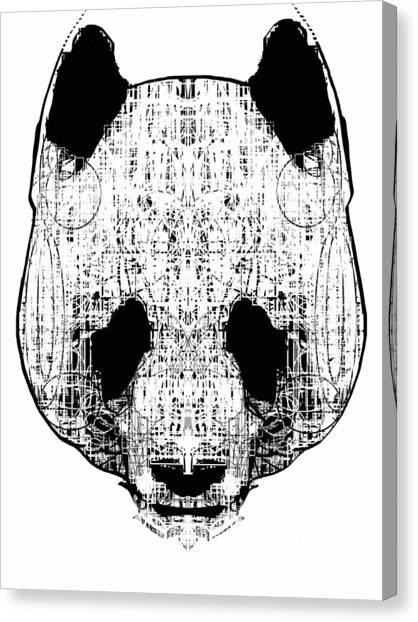 Bears Canvas Print - Patterned Panda by H B