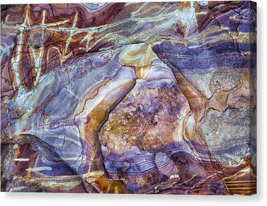 Patterns In Rock 3 Canvas Print
