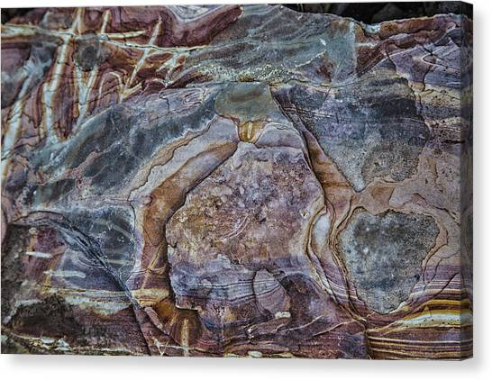 Patterns In Rock Canvas Print