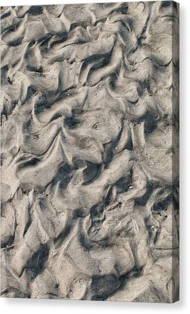 Canvas Print featuring the photograph Patterns In Sand 4 by William Selander