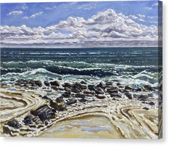 Patterns In The Sand Canvas Print by Ralph Papa