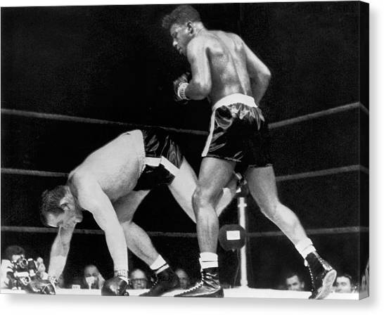 Knockout Canvas Print - Patterson Beats Johansson by Underwood Archives