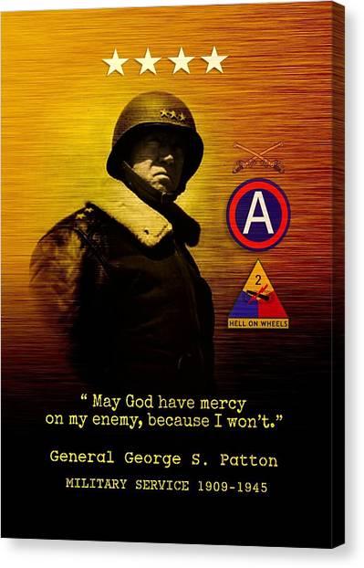 Patton Tribute Canvas Print