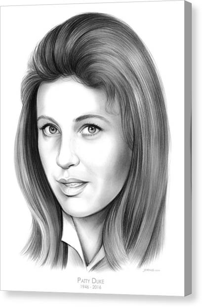 Duke University Canvas Print - Patty Duke by Greg Joens