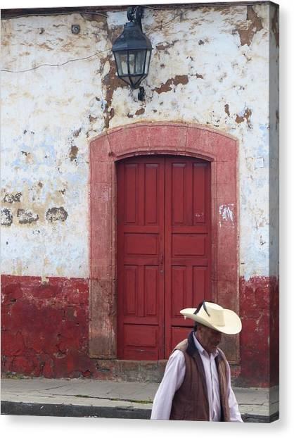 Patzcuaro Street Scene Canvas Print