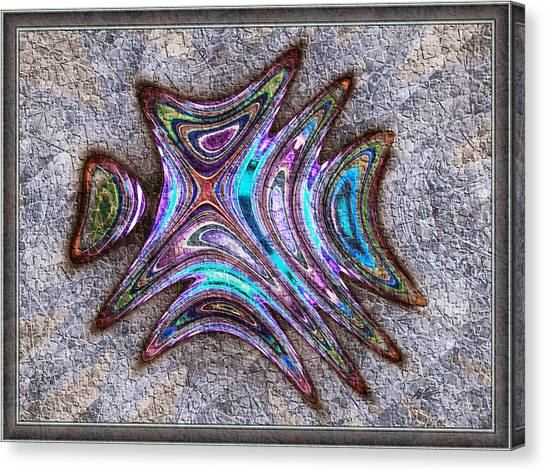 Paua Medallion Canvas Print