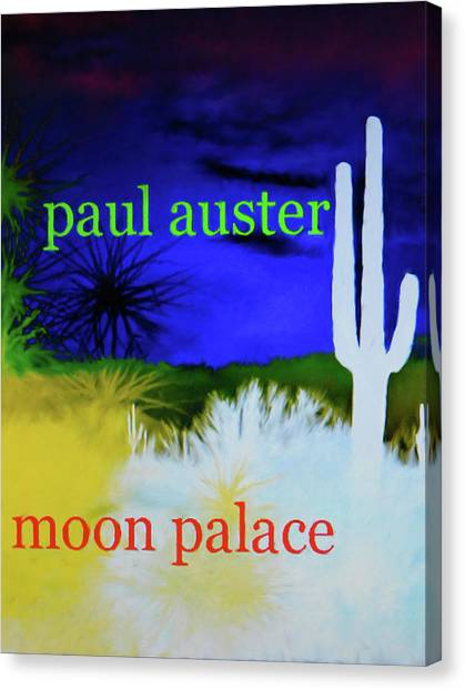 Paul Auster Poster Moon Palace Canvas Print