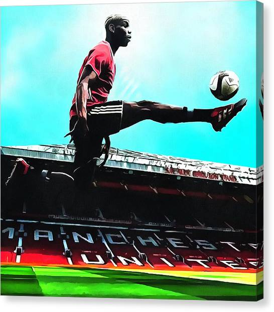 Paul Pogba Canvas Print - Paul Labile Pogba by Hasibuan Ronal