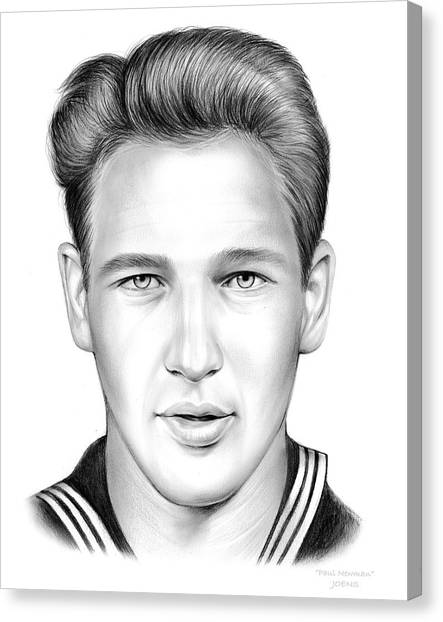 Hollywood Canvas Print - Paul Newman by Greg Joens
