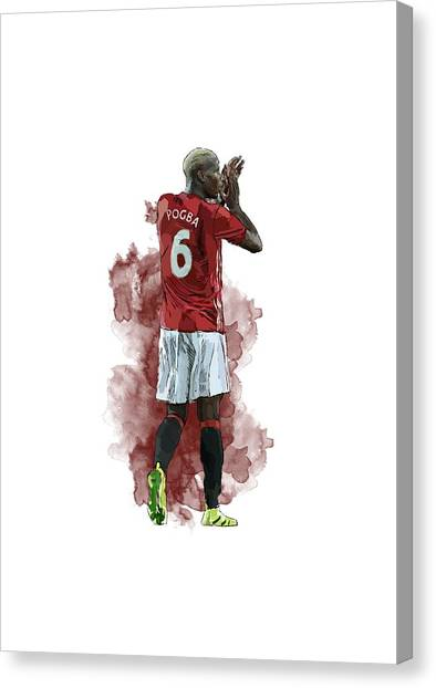 Paul Pogba Canvas Print - Paul Pogba by Armaan Sandhu