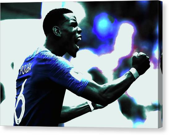 Paul Pogba Canvas Print - Paul Pogba by Brian Reaves