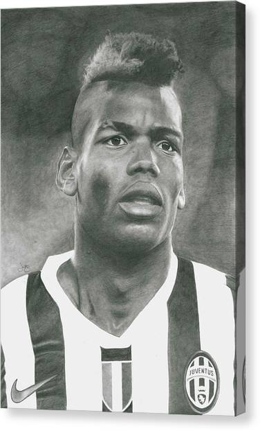 Paul Pogba Canvas Print - Paul Pogba by James Wing