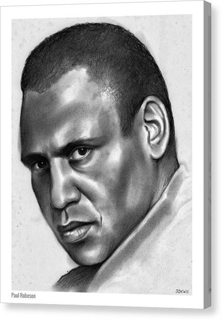 Football Players Canvas Print - Paul Robeson by Greg Joens